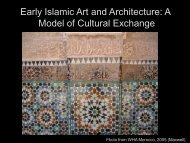 Early Islamic Art and Architecture: A Model of Cultural Exchange