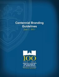 Centennial Branding Guidelines - The College of St. Scholastica
