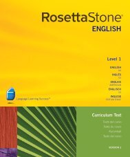 Level 1 Curriculum Text - Rosetta Stone