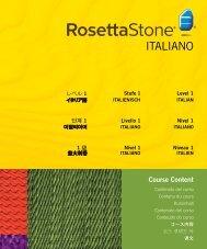 ITALIANO ITALIANO - Rosetta Stone