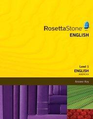 English (American) Level 1 - Answer Key.pdf - Rosetta Stone