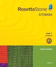 SITIMAXA - Rosetta Stone
