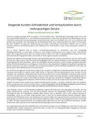 Steigende Kunden-Zufriedenheit und ... - Rosetta Stone