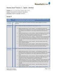 Rosetta Stone Version 3 - English - Detailed Grade K
