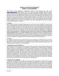 ROSETTA STONE ReFLEX WEBSITE TERMS OF USE AGREEMENT