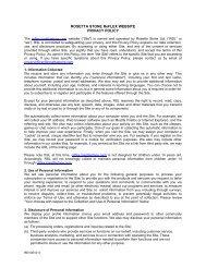 ROSETTA STONE ReFLEX WEBSITE PRIVACY POLICY