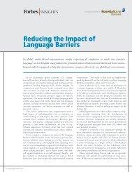 Reducing the Impact of Language Barriers - Rosetta Stone