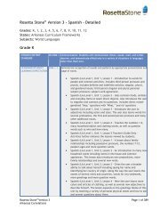Rosetta Stone Version 3 - Spanish - Detailed Grade K
