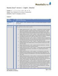 Rosetta Stone Version 3 - English - Detailed