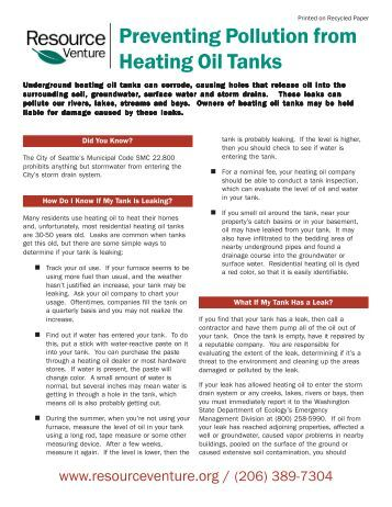 Heating Oil Tanks.pm6 - Resource Venture