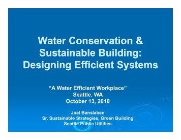 Water Conservation & Water Conservation ... - Resource Venture