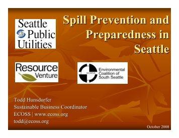 Spill Kit Workshop-Todd Hunsdorfer - Resource Venture