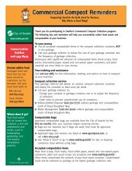 Food Waste Collection Tips & Reminders - Resource Venture