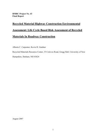 Final Report - Recycled Materials Resource Center