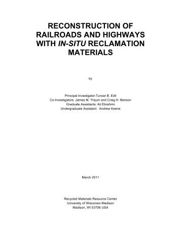 Final Report - Recycled Materials Resource Center - University of ...