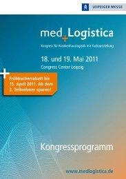 Kongressprogramm med.Logistica - Arbeitskreis Gesundheit eV
