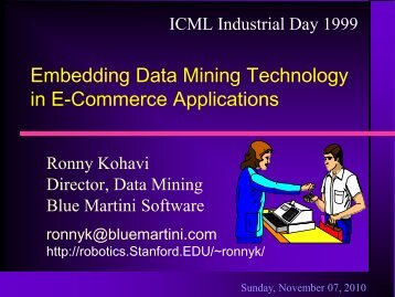 Embedding Data Mining Technology in E-Commerce Applications