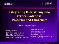 Integrating Data Mining into Vertical Solutions - Stanford University