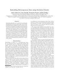 Embedding Heterogeneous Data using Statistical Models - CiteSeerX