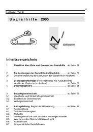 Sozialhilfe 2005 - Arbeitslosenzentrum Mönchengladbach eV