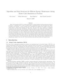 Algorithm and Data Structures for Efficient Energy Maintenance ...
