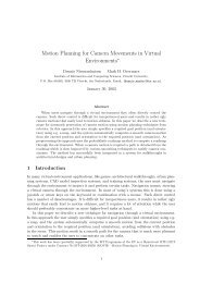 Motion Planning for Camera Movements in Virtual ... - Igitur