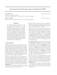 Semi-supervised Clustering using Combinatorial MRFs - Computer ...