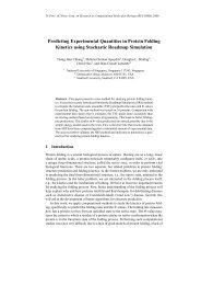 Predicting Experimental Quantities in Protein Folding Kinetics using ...