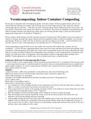 Vermicomposting - Cornell Cooperative Extension of Rockland County
