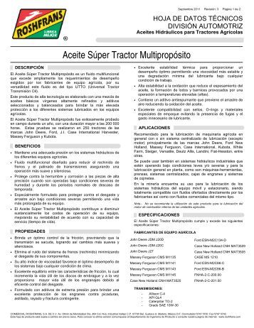 (01 HDT SUPER TRACTOR MULTIPROPÓSITO R3) - Roshfrans