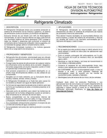 Refrigerante Climatizado - Roshfrans