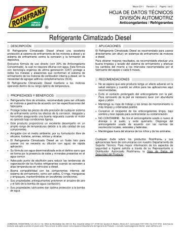 Refrigerante Climatizado Diesel - Roshfrans