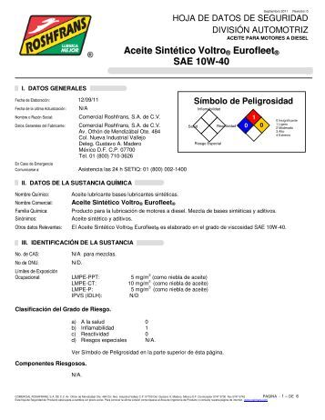 Aceite Sintético Voltro ® Eurofleet SAE 10W-40 - Roshfrans