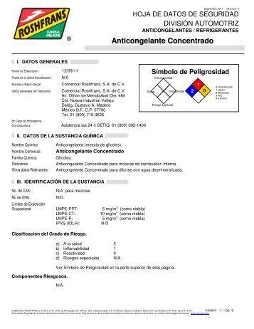 Anticongelante Concentrado - Roshfrans