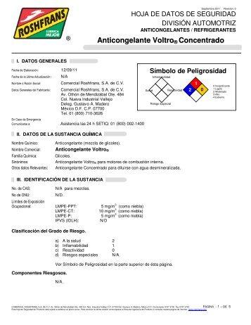 Anticongelante Voltro ® Concentrado - Roshfrans