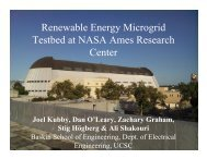 Renewable Energy Microgrid Testbed at NASA Ames Research ...