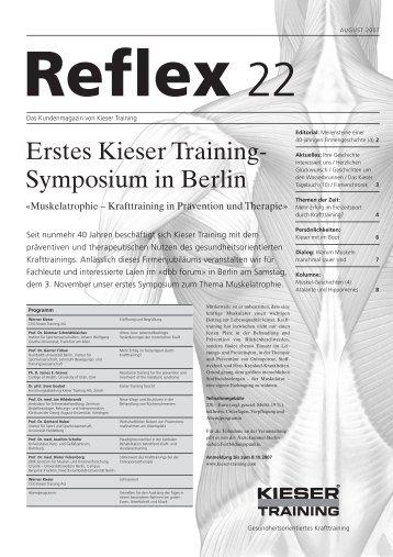 Seit nunmehr 40 Jahren beschäftigt sich Kieser Training