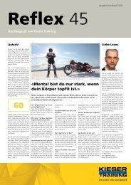 Das Magazin von Kieser Training - Reflex - Kieser Training