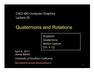 Quaternions and Rotations - University of Southern California