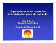 Mapping optical motion capture data to skeletal motion using a ...