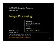 Image Processing - University of Southern California