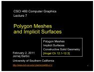 Polygon Meshes and Implicit Surfaces - University of Southern ...