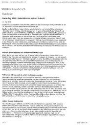 Rehe bilitation sichert Zukunft - Arbeitskreis Gesundheit eV