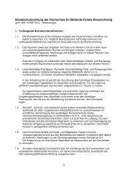 Brandschutzordnung - Hochschule für Bildende Künste Braunschweig