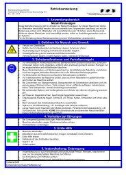 1. Anwendungsbereich Metall-Kreissägen 2. Gefahren für Mensch ...