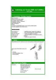 Anleitung zur Ersten Hilfe (GUV 30.10)