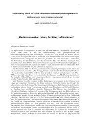 Download: Antrittsvorlesung als PDF Datei