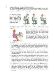 Allgemeine Hinweise zur Büroedrehstuhleinstellung