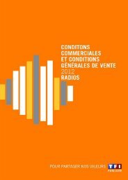 CONDITIONS COMMERCIALES NATIONALES - TF1