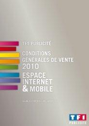 Conditions Générales de Vente 2010 – Espace Internet et ... - TF1
